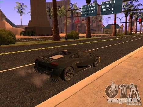 Lamborghini Gallardo Underground Racing pour GTA San Andreas sur la vue arrière gauche