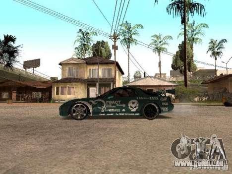 Mazda RX-7 Pro Street pour GTA San Andreas laissé vue