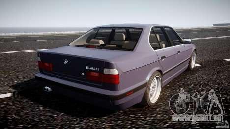 BMW 5 Series E34 540i 1994 v3.0 pour GTA 4 vue de dessus
