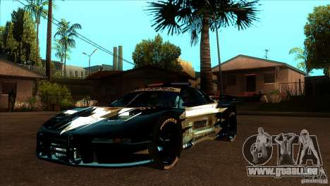 Honda NSX Extreme pour GTA San Andreas vue de dessous