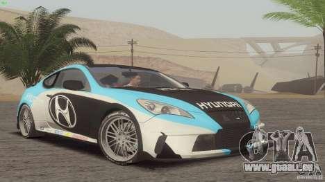 Hyundai Genesis Tunable für GTA San Andreas Rückansicht