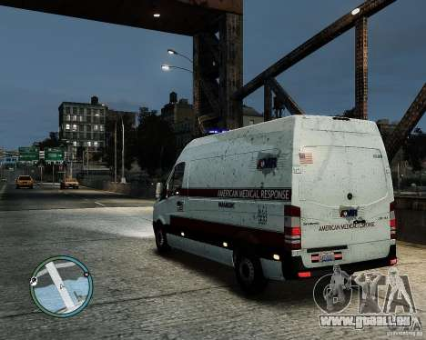 Mercedes Benz Sprinter American Medical Response für GTA 4 linke Ansicht