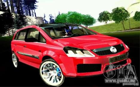 G1 MPV pour GTA San Andreas sur la vue arrière gauche