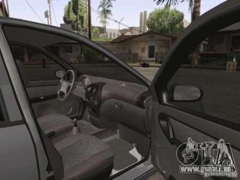 LADA Kalina Limousine für GTA San Andreas Innenansicht