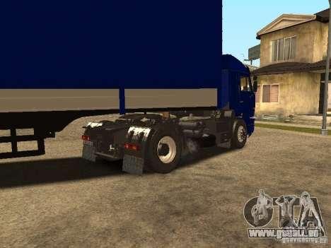 KAMAZ 5460 Truckers 2 für GTA San Andreas zurück linke Ansicht