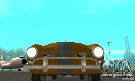 Volkswagen Karmann Ghia pour GTA San Andreas vue intérieure
