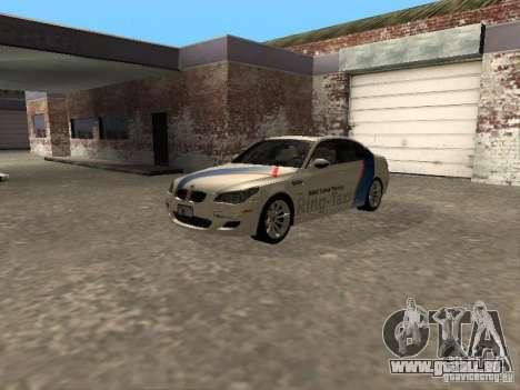 BMW M5 E60 2009 v2 pour GTA San Andreas vue arrière