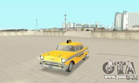 Chevrolet Bel Air 4-door Sedan Taxi 1957 pour GTA San Andreas laissé vue