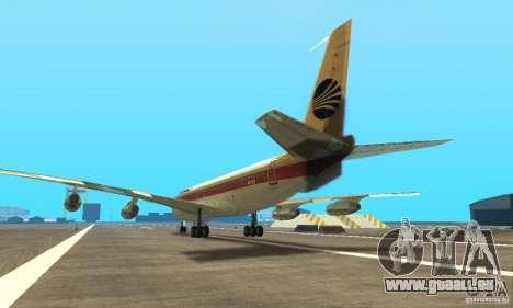 Boeing 707-300 pour GTA San Andreas laissé vue