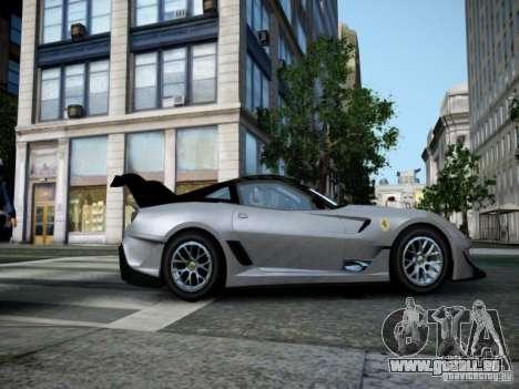 Ferrari 599xx 2012 pour GTA 4 Vue arrière de la gauche