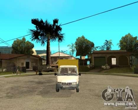 Grill Gaz-3302 Gazelle pour GTA San Andreas vue arrière
