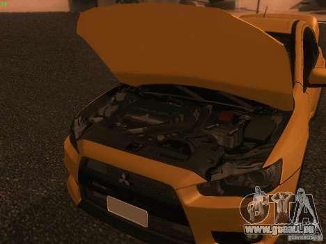 Mitsubishi  Lancer Evo X BMS Edition für GTA San Andreas Seitenansicht