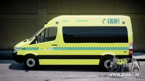 Mercedes-Benz Sprinter PK731 Ambulance [ELS] für GTA 4 linke Ansicht