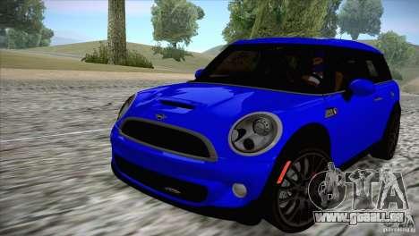 MINI Cooper Clubman JCW 2011 für GTA San Andreas zurück linke Ansicht