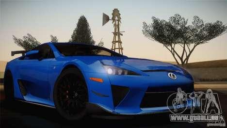 Lexus LFA Nürburgring Performance Package 2011 pour GTA San Andreas vue de côté