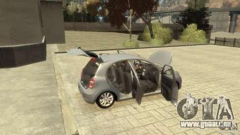 Nissan Micra pour GTA 4 vue de dessus