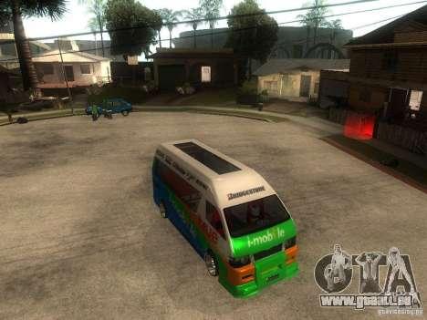 Toyota Commuter VIP Van pour GTA San Andreas vue de droite