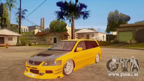 Mitsubishi Lancer Evolution IX Wagon MR Drift für GTA San Andreas