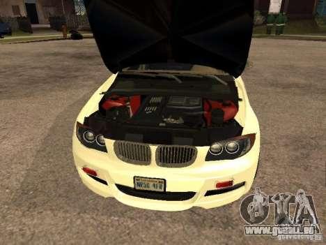 Bmw 135i coupe Police pour GTA San Andreas vue de droite