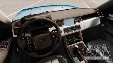 Land Rover Range Rover Sport HSE 2010 pour GTA 4 Vue arrière