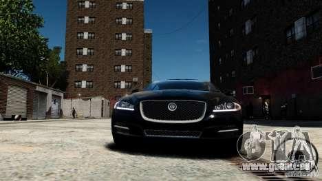 Jaguar XJ 2012 pour GTA 4 est une vue de l'intérieur