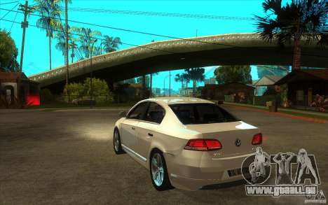 Volkswagen Passat 2.0 TDI Bluemotion 2011 für GTA San Andreas zurück linke Ansicht