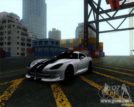 Dodge Viper SRT 2013 für GTA San Andreas Rückansicht