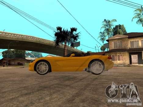 Dodge Viper SRT10 Impostor Tuning pour GTA San Andreas laissé vue