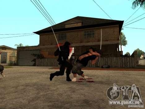 Der Kampf mit der Katanas in der Grove Street für GTA San Andreas her Screenshot