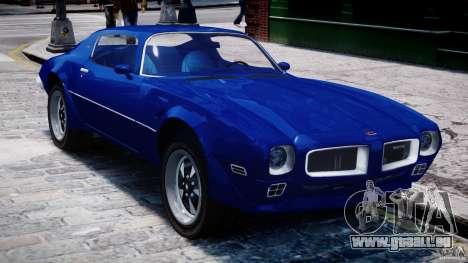 Pontiac Firebird Esprit 1971 pour GTA 4 vue de dessus