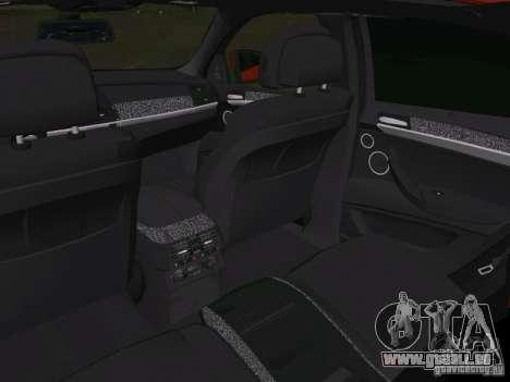 BMW X6M pour GTA Vice City vue de dessous