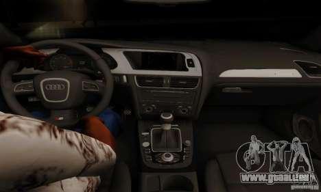 Audi S4 2010 pour GTA San Andreas vue intérieure