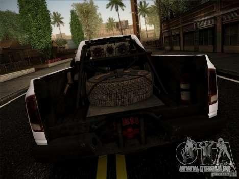 Dodge Ram 1500 4x4 pour GTA San Andreas sur la vue arrière gauche