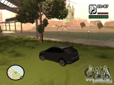 Ford Focus RS 2009 pour GTA San Andreas vue de droite