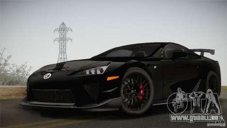 Lexus LFA Nürburgring Performance Package 2011 pour GTA San Andreas vue arrière