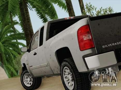 Chevrolet Silverado 2500HD 2013 pour GTA San Andreas sur la vue arrière gauche