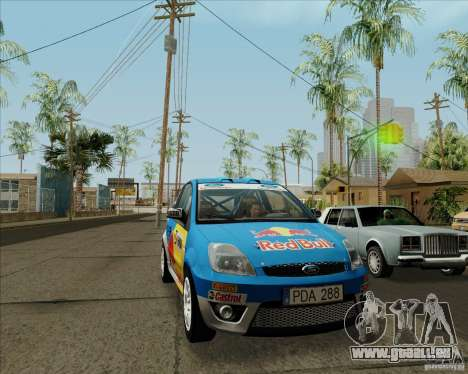 Ford Fiesta ST Rally für GTA San Andreas linke Ansicht