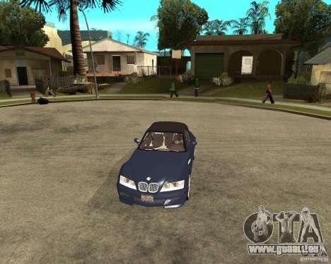 BMW Z3 Roadster pour GTA San Andreas vue arrière