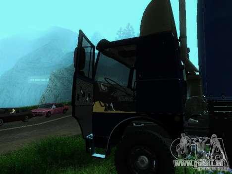 MAZ 53366 pour GTA San Andreas vue intérieure