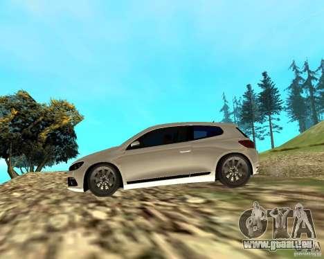 VW Scirocco III Custom Edition pour GTA San Andreas sur la vue arrière gauche