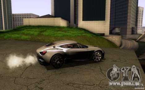 Aston Martin Zagato V12 V1.0 pour GTA San Andreas vue de côté