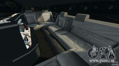 Lincoln Town Car Limousine 2006 pour GTA 4 est une vue de l'intérieur