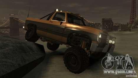 Rancher XL 3.0 pour GTA 4 Vue arrière