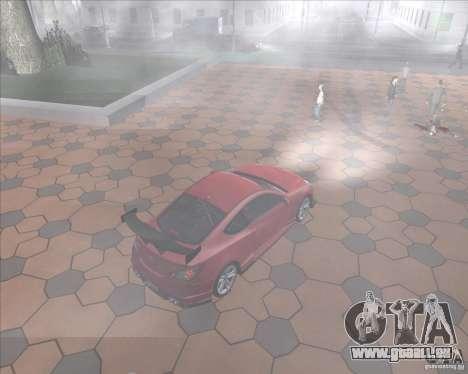Hyundai Genesis Coupe pour GTA San Andreas vue intérieure