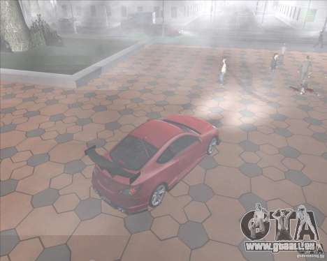 Hyundai Genesis Coupe für GTA San Andreas Innenansicht