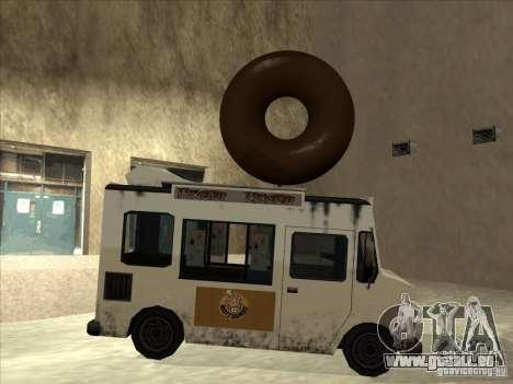 Donut Van für GTA San Andreas zurück linke Ansicht