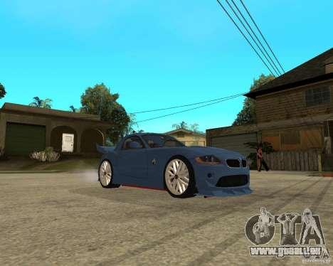 BMW Z4 Supreme Pimp TUNING volume I pour GTA San Andreas vue arrière