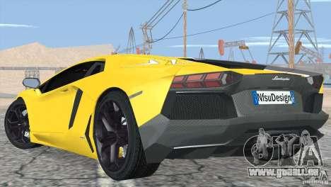 Lamborghini Aventador LP700-4 2012 pour GTA San Andreas roue