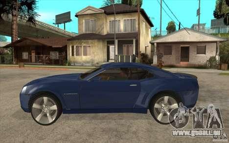 Chevrolet Camaro Concept Tunable pour GTA San Andreas laissé vue