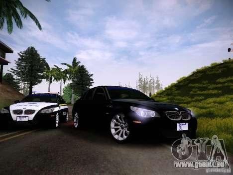 BMW M5 E60 Police für GTA San Andreas Rückansicht